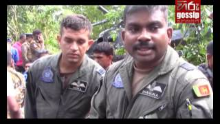 Declaration of the pilot of crash landed helicopter in Baddegama