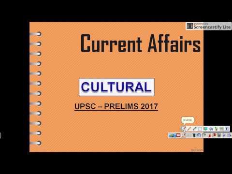 01 UPSC CURRENT AFFAIRS CULTURAL PRELIMS
