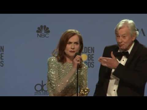 Isabelle Huppert Golden Globes 2017 Full Backstage Interview