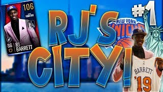 RJ BARRET CARRIES THE KNICKS IN FIRST GAME!!! NBA LIVE MOBILE RJ'S CITY #1