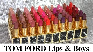 Sherryi77 | Lipstick Swatches | Tom Ford Lips & Boys ALL 50 shades 2015