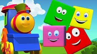 بوب قطار الألوان ركوب | لون للأطفال | تعلم الألوان | Bob the Train | 3D Color | Bob Train Color Ride