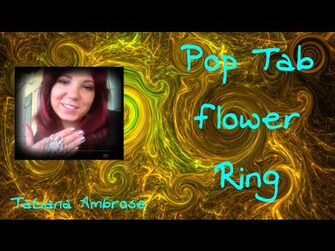 Pop Tab Flower Ring