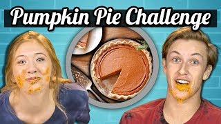 PUMPKIN PIE SPEED EATING CHALLENGE | Teens Vs. Food