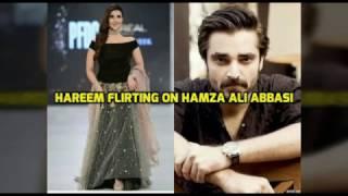 Hareem Farooq Flirting on Hamza Ali Abbasi in a live show