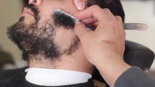 straight razor shave | Beard shaved off