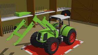Tractor with front loader | Formation and Uses | Traktor z ładowaczem czołowym - Bajki