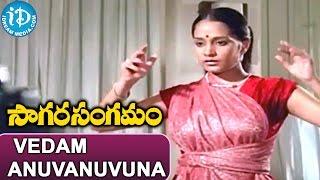 Sagara Sangamam Songs - Vedam Anuvanuvuna Nadam Song   Kamal Haasan, Jayaprada   Ilayaraja