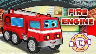 Real Fire Trucks for Kids | Fire Engine for children | Real City Heroes Fire engine