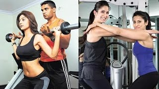 Bollywood Actress HOT WORKOUT With Trainers