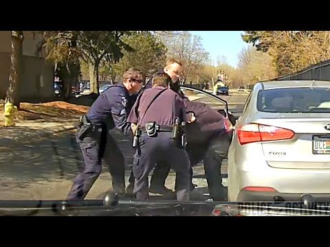 Michigan Cop Shatters Car Window After Driver Refuses To Give ID