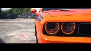Dodge Charger on 22'' Vossen VFS-2 Wheels | Orange Crush