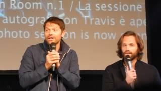 JIB 7 - Jared & Misha Panel - Part 2 - Jared/Jensen/Misha wrestle