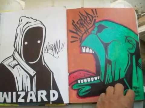 Wizards New BlackBook graffiti characters July 10 2012