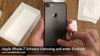 Apple iPhone 7 Schwarz Unboxing und erster Eindruck