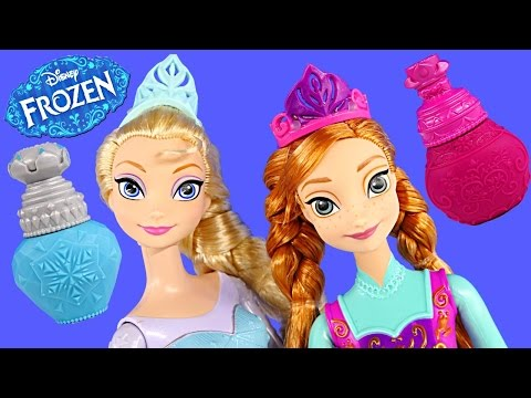 Color Changing Frozen Elsa + Princess Anna Disney Barbie Doll Coloring Change Toys DCTC 2015