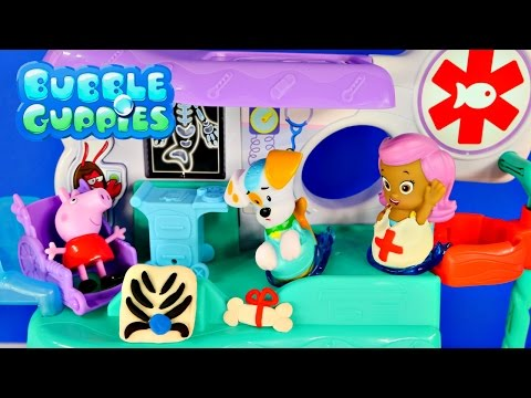 PLAY DOH Bubble Guppies Check Up Center Peppa Pig Hospital Doctor Music and Songs Toy