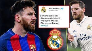 ريال مدريد يعلن رسميا عن ضم ليونيل ميسي من برشلونة..!!