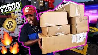 OVER $2500 WORTH OF PICKUPS FROM ADIDAS, OFF-WHITE, THE FAM, & MORE! 7 BRAND NEW UNBOXINGS!