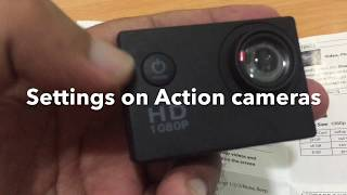 Setting up full HD sports action Camera 1080p
