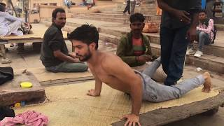 Complete Street Indian Body massage at Banks of the Ganges(Full Video) (Clean Audio)
