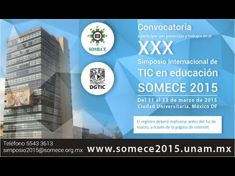 Xxx Mp4 XXX Simposio Internacional De TIC En Educación SOMECE 2015 3gp Sex