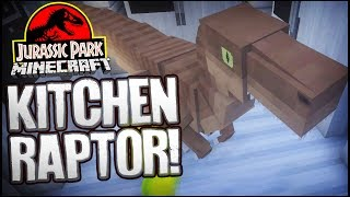 Let's Build Jurassic Park | DINOSAURS IN THE KITCHENS!? (Minecraft Dinosaurs Part 18)
