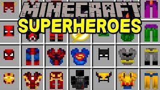 Minecraft SUPERHEROES MOD!   100+ NEW SUPERHEROES, BATMAN, DEADPOOL, & MORE!   Modded Mini-Game
