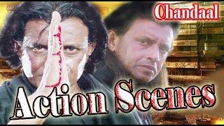 Chandaal Movie | Action Scenes | Mithun Chakraborty |