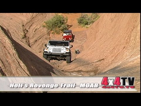 Hell's Revenge Trail Moab Utah in Jeep Rubicons - 4x4TV
