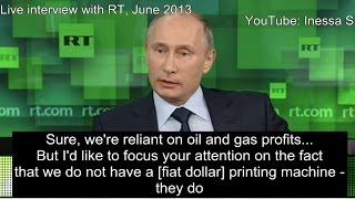 The West lives in debt - Putin