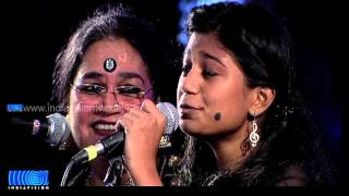 Usha Uthup with Daughter and Grand Daughter on Stage
