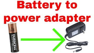 How to add power adapter to a battery powered device