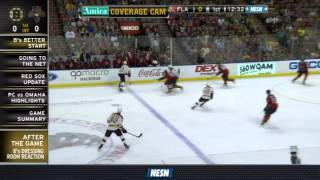 Bruins Getting Too Close In Front Of Net Vs. Panthers