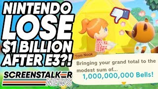 Nintendo Drops $1BILLION In Stock Price After E3 Nintendo Direct! | ScreenStalker Gaming