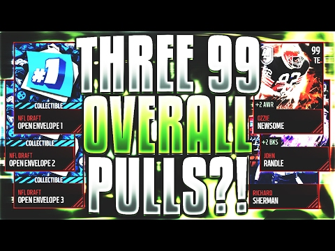 THREE 99 OVERALL PULLS LIMITED EDITION PACK LUCK PULL Madden Mobile 17