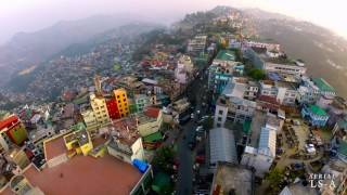 Aerial View of Aizawl city