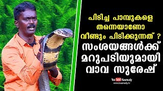 Am I catching the same snakes again and again ? Snakemaster Vava Suresh Clarifies