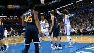 Russell Westbrook Dunks The Ball So Hard,Screams At The Rookie Donovan Mitchell