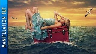 Photoshop Photo Manipulation Tutorial - Girl On The Sea