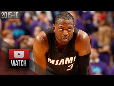 Dwyane Wade Full Highlights at Hornets 2016 Playoffs R1G6 - 23 Pts (Heat Feed)