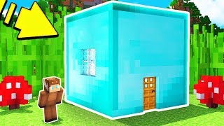 HOW TO LIVE INSIDE A DIAMOND BLOCK IN MINECRAFT!