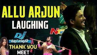 Allu Arjun Laughing @ DJ- Duvvada Jagannadham Thank You Meet    Pooja Hegde, Harish Shankar