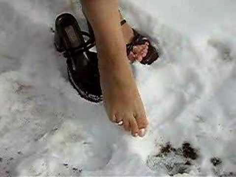 Egyptian Feet Playing in the Snow