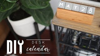DIY Concrete + Wood Desk Calendar