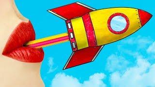 11 Wierd Ways To Survive School / Amazing DIY Board Games