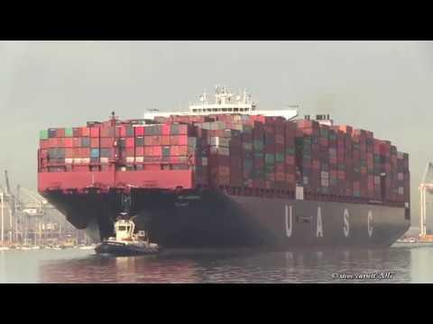 Xxx Mp4 39 Al Jasrah 39 UASC Container Ship Southampton Docks Outbound 1 11 17 3gp Sex