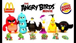 2017 BURGER KING ANGRY BIRDS MOVIE McDONALD'S HAPPY MEAL TOYS KID FULL SET 6 WORLD COLLECTION EUROPE