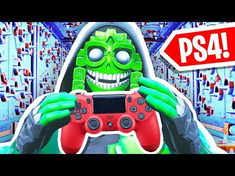 Trying Fortnite DEATH RUN on a CONTROLLER