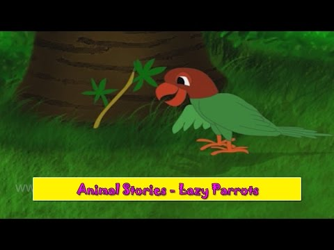 Lazy Parrots | Aalsu Popat | Animal Stories Gujarati for Kids | Gujarati Varta